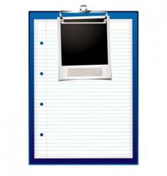Clip board photo vector