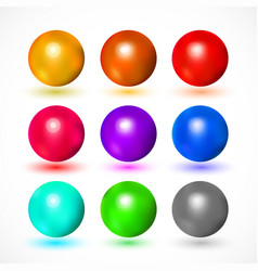 colorful and bright spheres vector image