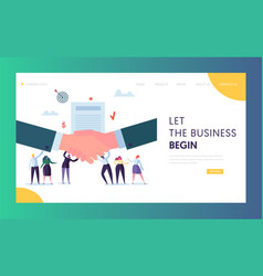 commercial business cooperation concept web page vector image