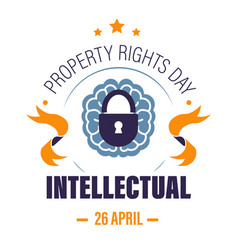 Copyright or intellectual property rights day vector