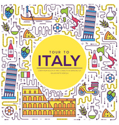 Country italy travel vacation guide of goods vector