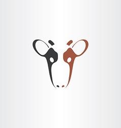 cow icon logo symbol vector image