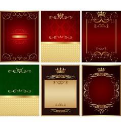 design background set vector image