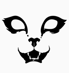 Drawing a stylized scary animal muzzle vector