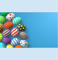 easter background colorful traditional decoration vector image