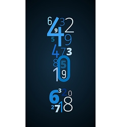 Exclamation mark font from numbers vector