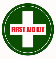 first aid kit sign eps 10 vector image