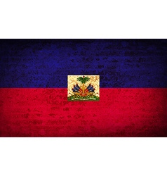 Flags Haiti with dirty paper texture vector image