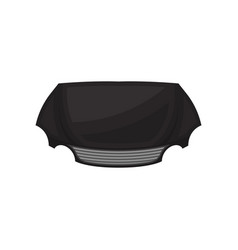Flat icon of black hood or bonnet of vector