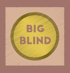flat shading style icon big blind vector image