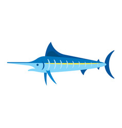 Flat style of marlin vector
