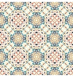 Floral Pattern Blue Brown Curve Elements vector image