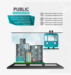 funicular cable car public transport urban vector image