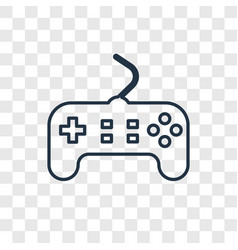 Game controller concept linear icon isolated on vector
