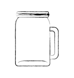 glass jar picher for drinks vector image