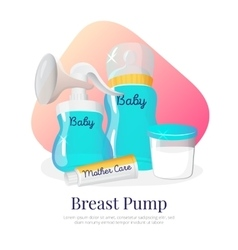 goods for expression of breast milk vector image