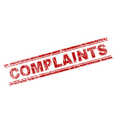 Grunge textured complaints stamp seal vector