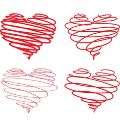 Hearts from lines vector image