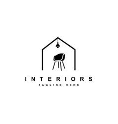 home furniture logo design vector image