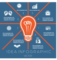 Idea Business Concept Light bulb infographic 8 vector image