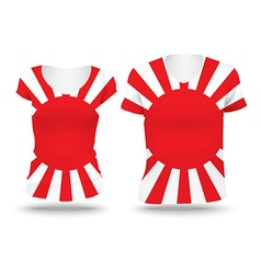 Japanese War flag shirt design vector image