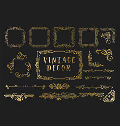 kit of vintage elements for invitations banners vector image