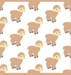 Lamb seamless pattern vector
