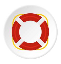 Lifebuoy icon circle vector