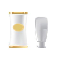 Liquid gel in beautiful package cream in a vector