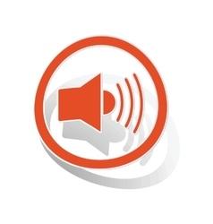 Loudspeaker sign sticker orange vector
