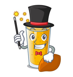 Magician lassi mango in the character fridge vector