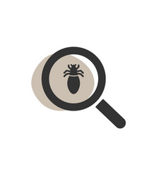 magnifying glass looking for a lice isolated vector image