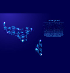 map tonga from printed board chip and radio vector image