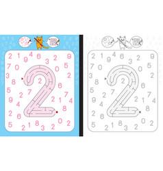 Maze number 2 vector