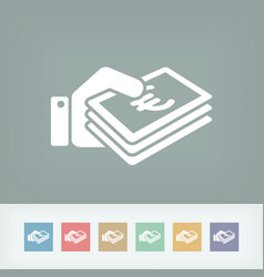 money icon - euro vector image