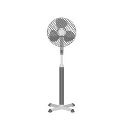 monochrome plastic pedestal or floor fan isolated vector image