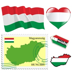 National colours of Hungary vector