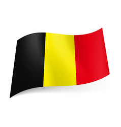 national flag of belgium black yellow and red vector image