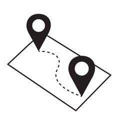 Pin map navigation locator position vector