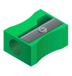 Plastic sharpener icon isometric style vector
