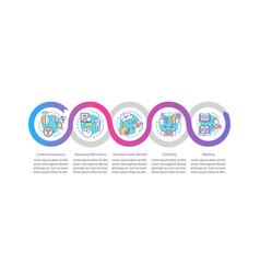 Positive personal attitude infographic template vector