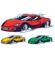 Race car mascot vector