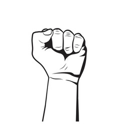 raised fist rebel concept protest symbol vector image