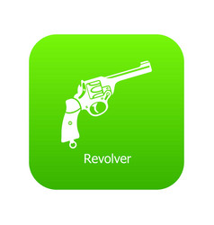revolver icon green vector image