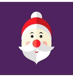Santa Claus Christmas Flat Icon vector image