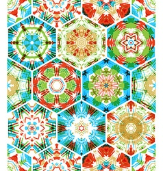 Seamless colourful ethnic textile pattern vector