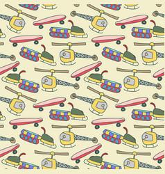 seamless pattern vehicle pattern navy vector image