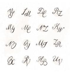set handwritten letters vector image