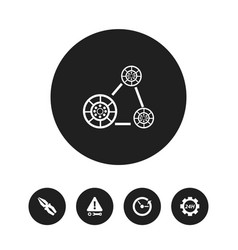 Set of 5 editable repair icons includes symbols vector