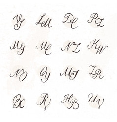set of handwritten letters vector image